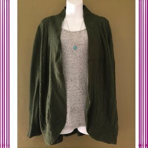 jason maxwell Sweaters - Open Front Cable Knit Cardigan